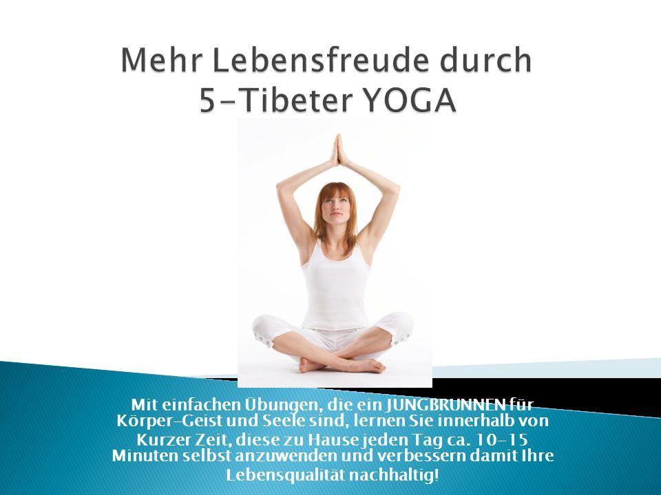 Mit einfachen Übungen, die ein JUNGBRUNNEN für Körper-Geist und Seele sind, lernen Sie innerhalb von Kurzer Zeit, diese zu Hause jeden Tag ca. 10-15 M