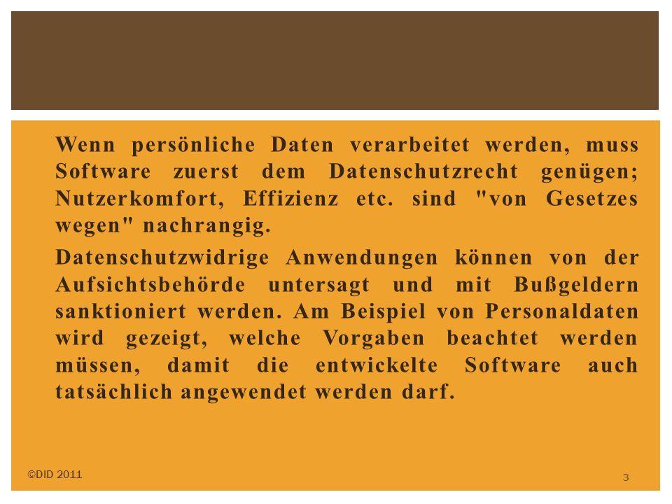 Wenn persönliche Daten verarbeitet werden, muss Software zuerst dem Datenschutzrecht genügen; Nutzerkomfort, Effizienz etc. sind
