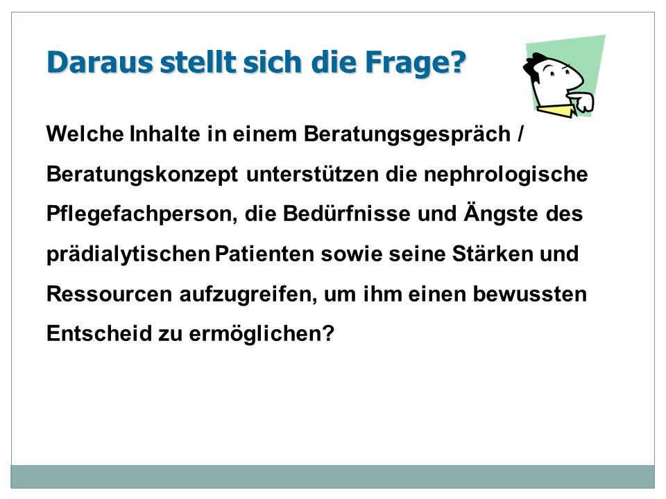 Beratung in der Pflege Definitionen von Beratung in der Pflege: Wird oftmals mit Patientenedukation und Patienteninformation definiert (Koch-Straube, 2008).