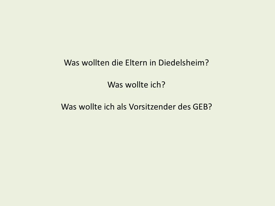 Beschluss des Elternbeirates der Schwandorf-Grundschule Diedelsheim in seiner Sitzung am 5.