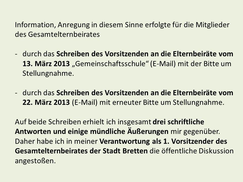 Zusammenlegung Schillerschule und Max-Planck- Realschule zu einer Gemeinschaftsschule: Relativ hohe Ablehnung (55 %), auffallend viele keine Meinung (27 %).