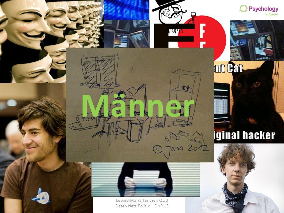 Leonie Maria Tanczer, QUB Daten.Netz.Politik – DNP 13 Männer