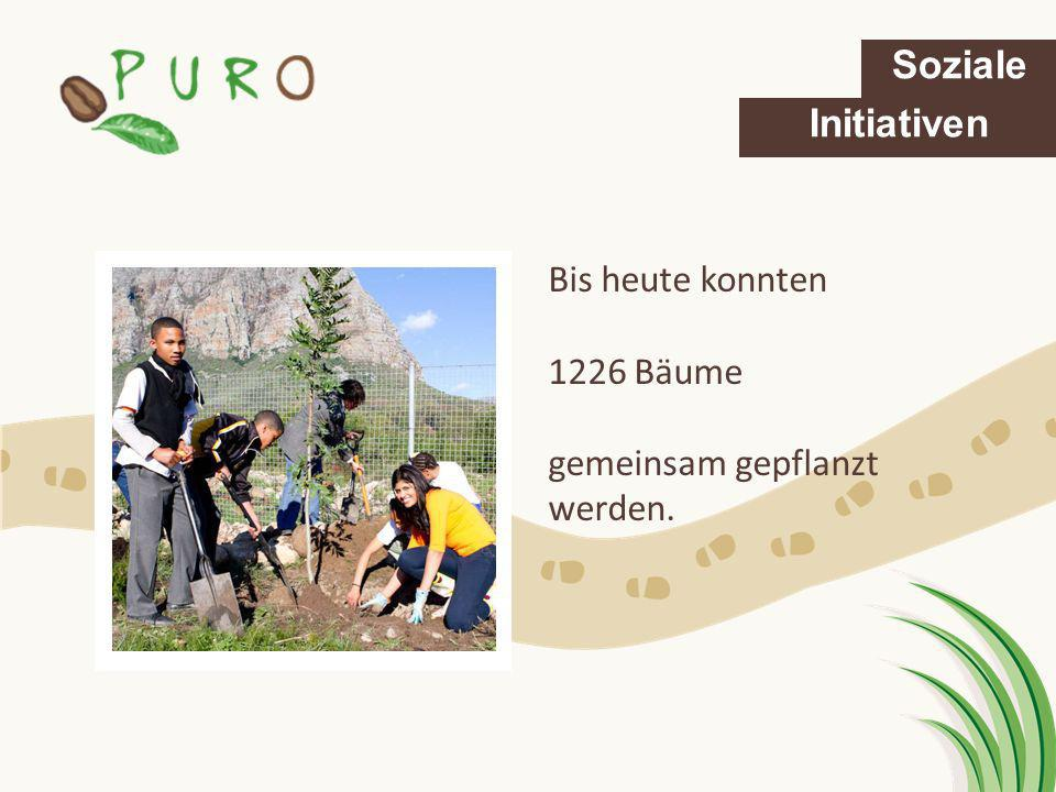 Soziale Initiativen Bis heute konnten 1226 Bäume gemeinsam gepflanzt werden.