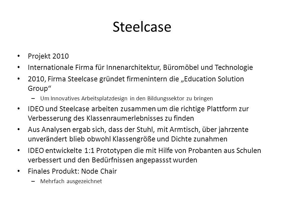 Steelcase Projekt 2010 Internationale Firma für Innenarchitektur, Büromöbel und Technologie 2010, Firma Steelcase gründet firmenintern die Education S