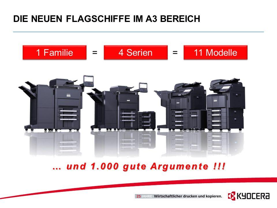 DIE NEUEN FLAGSCHIFFE IM A3 BEREICH 11 Modelle 4 Serien 1 Familie == … und 1.000 gute Argumente !!!