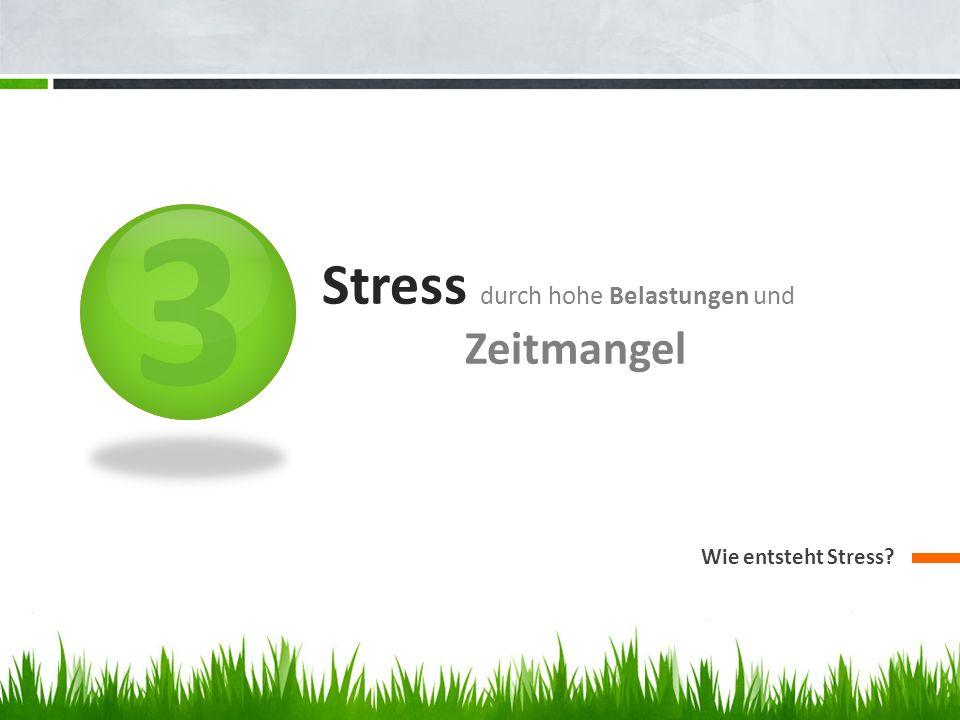 3 Stress durch hohe Belastungen und Zeitmangel Wie entsteht Stress?