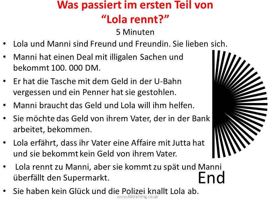 LOLA ESSAY 1.INTRO : Lola, Manni, Verhältnis, Problem 2.1.