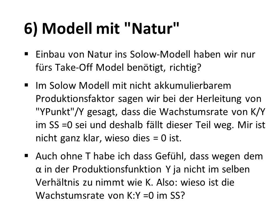 6) Modell mit