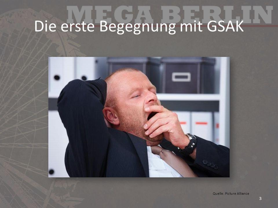Die erste Begegnung mit GSAK 3 Quelle: Picture Alliance