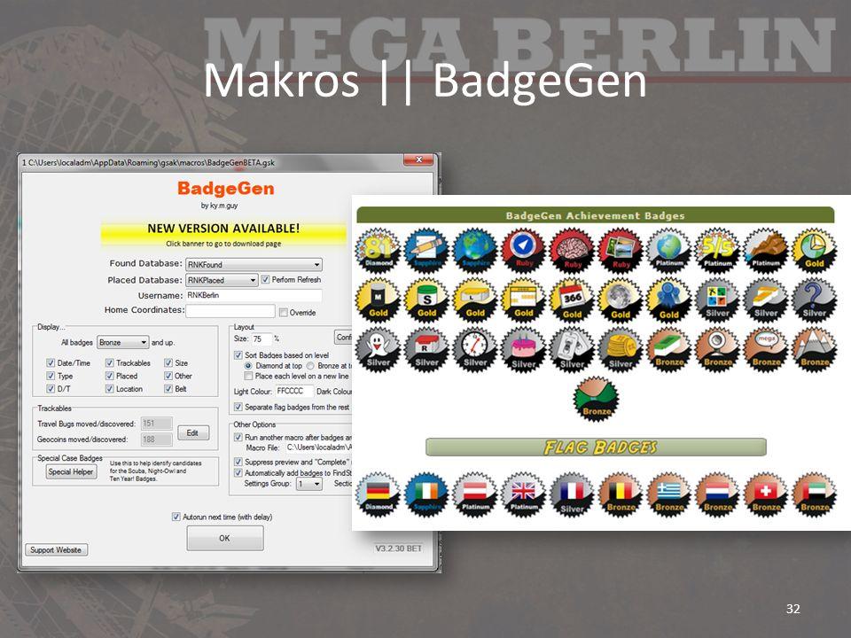Makros    BadgeGen 32