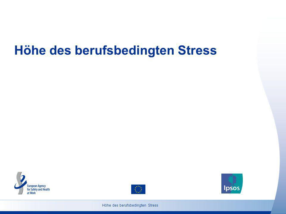 7 http://osha.europa.eu Grundgesamtheit: Bevölkerung ab 18 Jahren Höhe des berufsbedingten Stress (Deutschland) Glauben Sie, dass die Anzahl der Personen in Deutschland, die an beruflich bedingtem Stress leiden, in den nächsten fünf Jahren zunehmen, abnehmen oder etwa gleich bleiben wird.