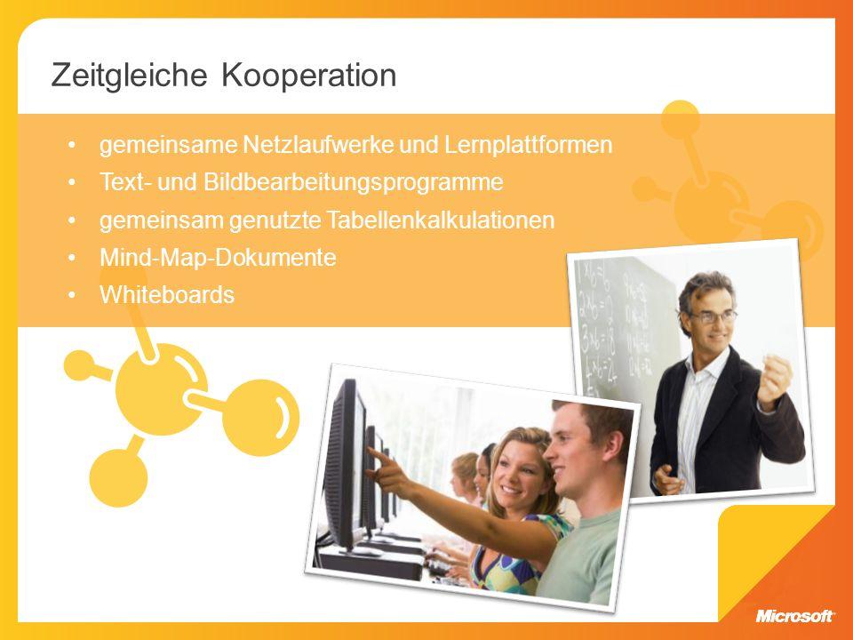 Die zeitversetzte Kooperation, bei der die Teilnehmer zu verschiedenen Zeitpunkten arbeiten, wird ebenfalls durch Web 2.0-Technologien unterstützt.