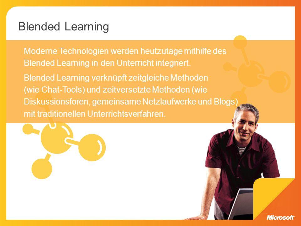 Moderne Technologien werden heutzutage mithilfe des Blended Learning in den Unterricht integriert. Blended Learning verknüpft zeitgleiche Methoden (wi