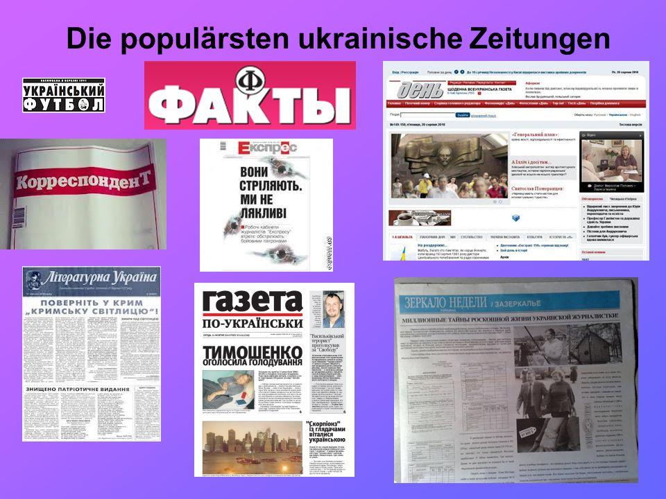 Die populärsten ukrainische Zeitungen
