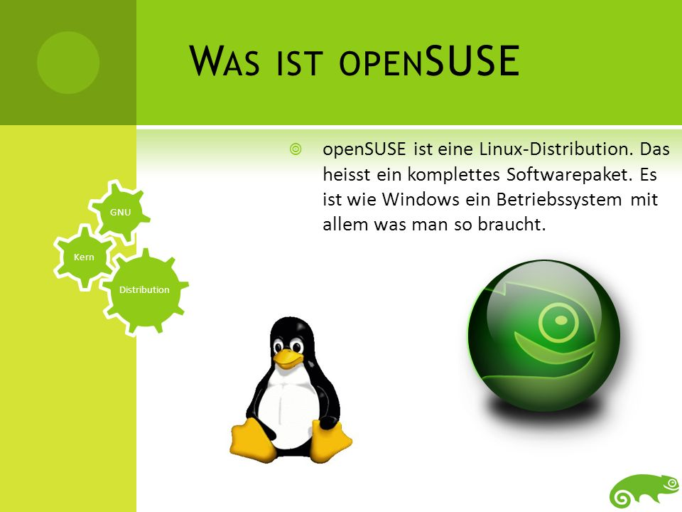 GNU-Projekt LinuxopenSUSE D IE E NTWICKLUNG UND DIE B EDEUTUNG Entwicklung: Alles begann mit Richard Stallman aus Oslo.