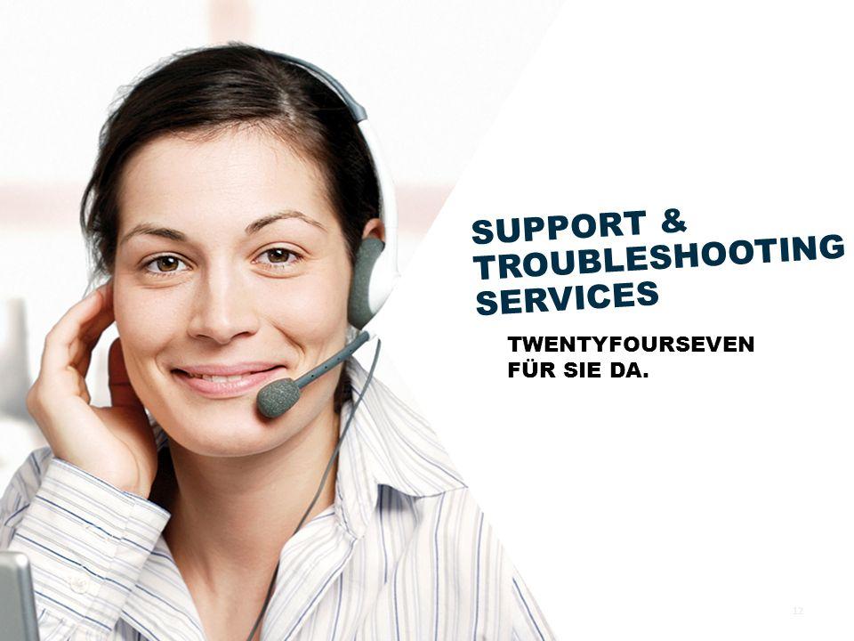 SUPPORT & TROUBLESHOOTING SERVICES TWENTYFOURSEVEN FÜR SIE DA. 12