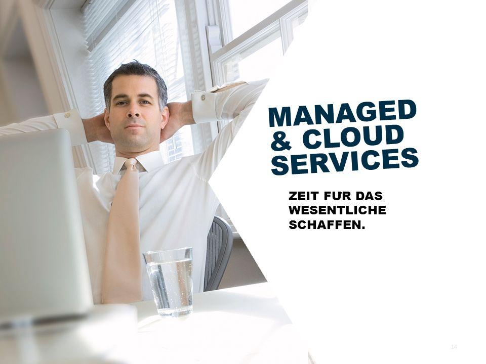MANAGED & CLOUD SERVICES ZEIT FU ̈ R DAS WESENTLICHE SCHAFFEN. 14