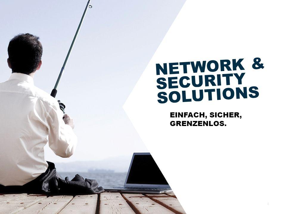 NETWORK & SECURITY SOLUTIONS EINFACH, SICHER, GRENZENLOS. 4