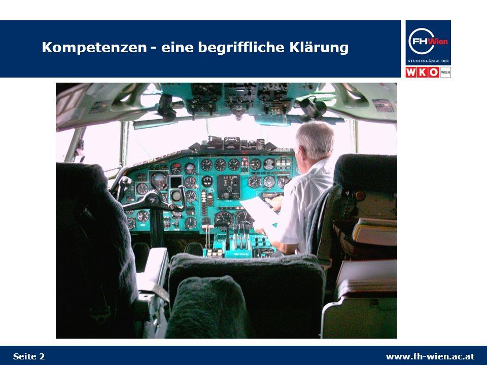 www.fh-wien.ac.at Kompetenzen - eine begriffliche Klärung Seite 2