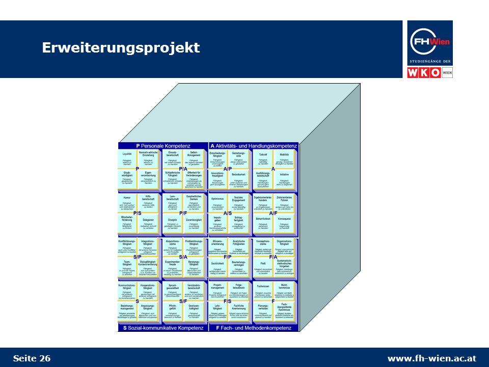 www.fh-wien.ac.atSeite 26 Erweiterungsprojekt
