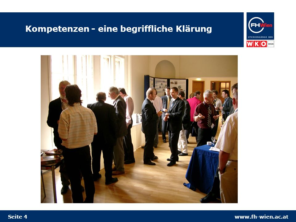 www.fh-wien.ac.at Kompetenzen - eine begriffliche Klärung Seite 4