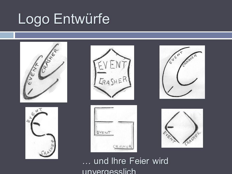 Logo Entwürfe … und Ihre Feier wird unvergesslich