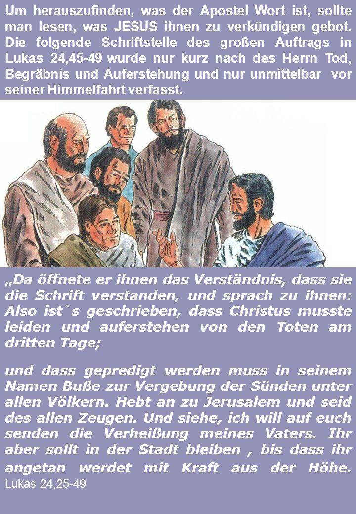 IN DIE APOSTELGESCHICHTE Unsere Reise in das Wort Gottes soll nun fortgesetzt werden, indem wir lesen, was in Jerusalem gepredigt wurde und geschah...