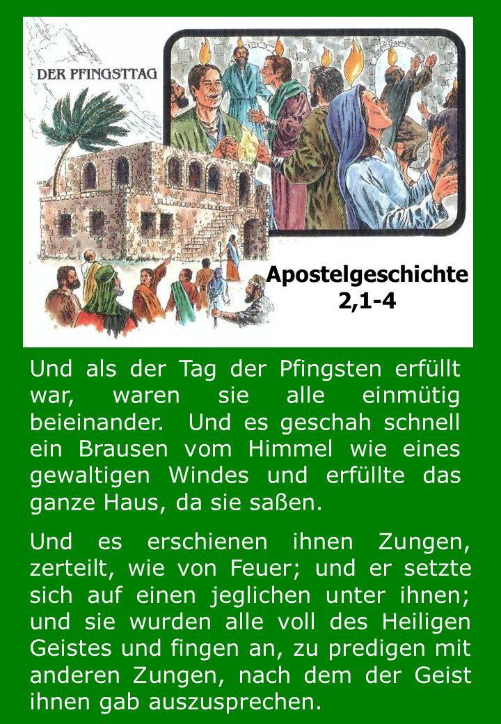 Als die Apostel in Jerusalem waren, wurden sie und viele andere freudig mit dem heiligen Geist erfüllt, und sie fingen an in anderen ____________ zu sprechen, wie der Geist ihnen gab auszusprechen (Fähigkeit zu sprechen).