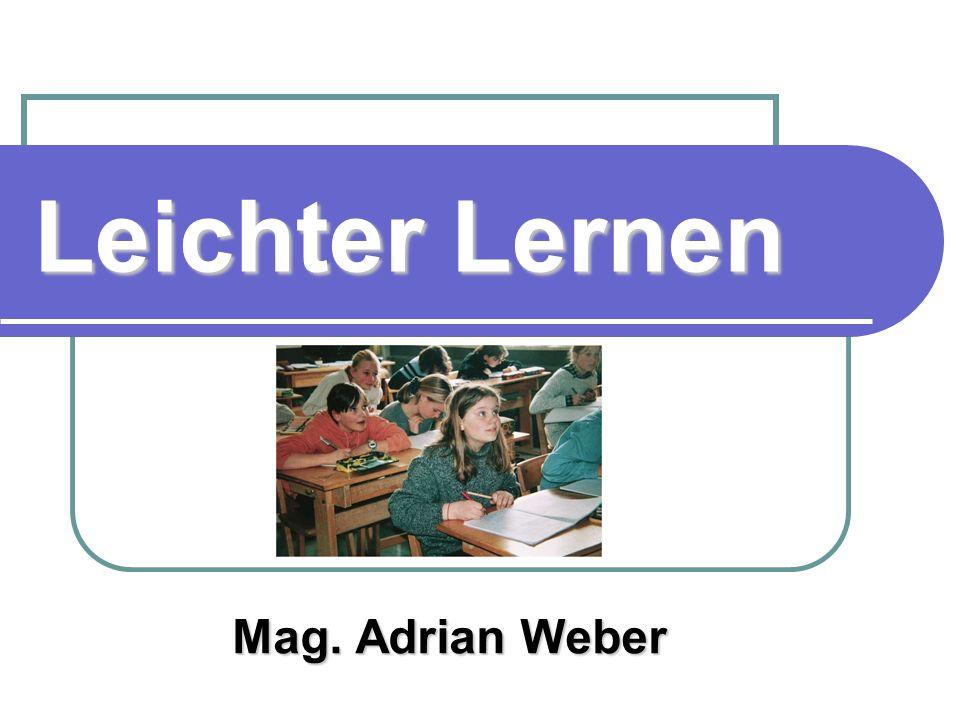 Leichter Lernen Mag. Adrian Weber