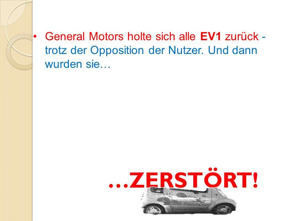 Kurios ist der Umstand, dass während die elektrischen Fahrzeuge in großen Mengen zerstört werden, jene mit Verbrennungs- motor gut geschützt sind.