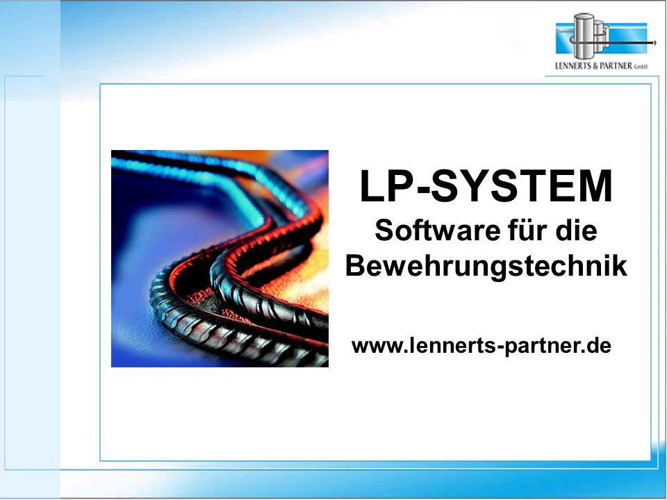 LP-SYSTEM Software für die Bewehrungstechnik www.lennerts-partner.de