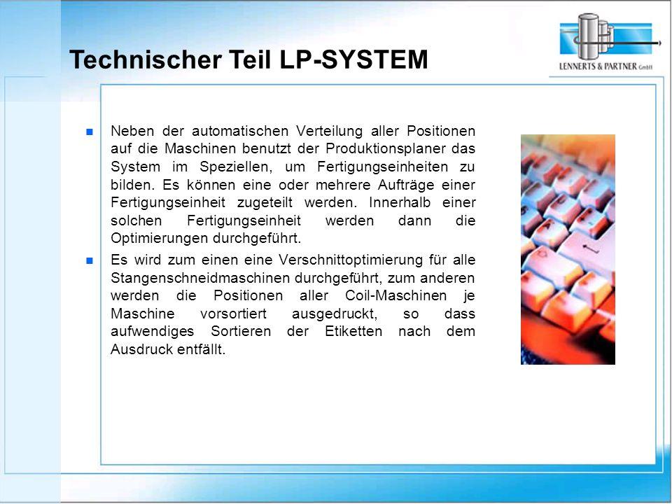 n n Neben der automatischen Verteilung aller Positionen auf die Maschinen benutzt der Produktionsplaner das System im Speziellen, um Fertigungseinheiten zu bilden.