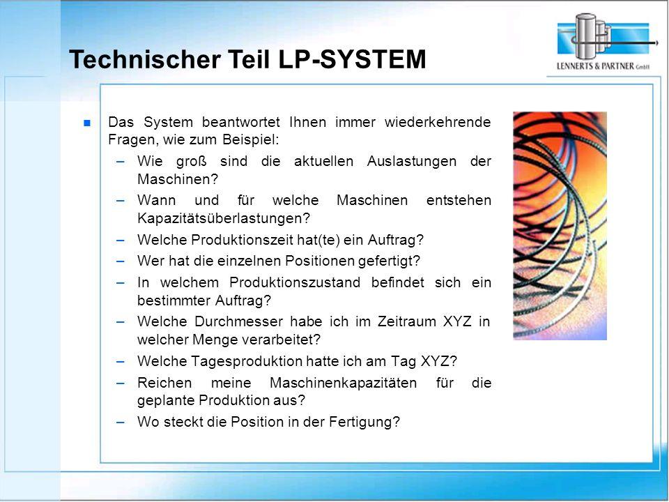 n n Das System beantwortet Ihnen immer wiederkehrende Fragen, wie zum Beispiel: – – Wie groß sind die aktuellen Auslastungen der Maschinen.