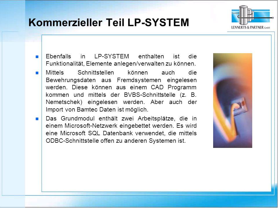 n n Ebenfalls in LP-SYSTEM enthalten ist die Funktionalität, Elemente anlegen/verwalten zu können.