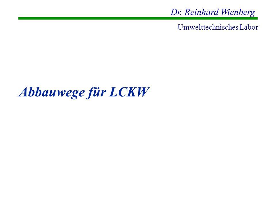 Dr. Reinhard Wienberg Umwelttechnisches Labor Abbauwege für LCKW