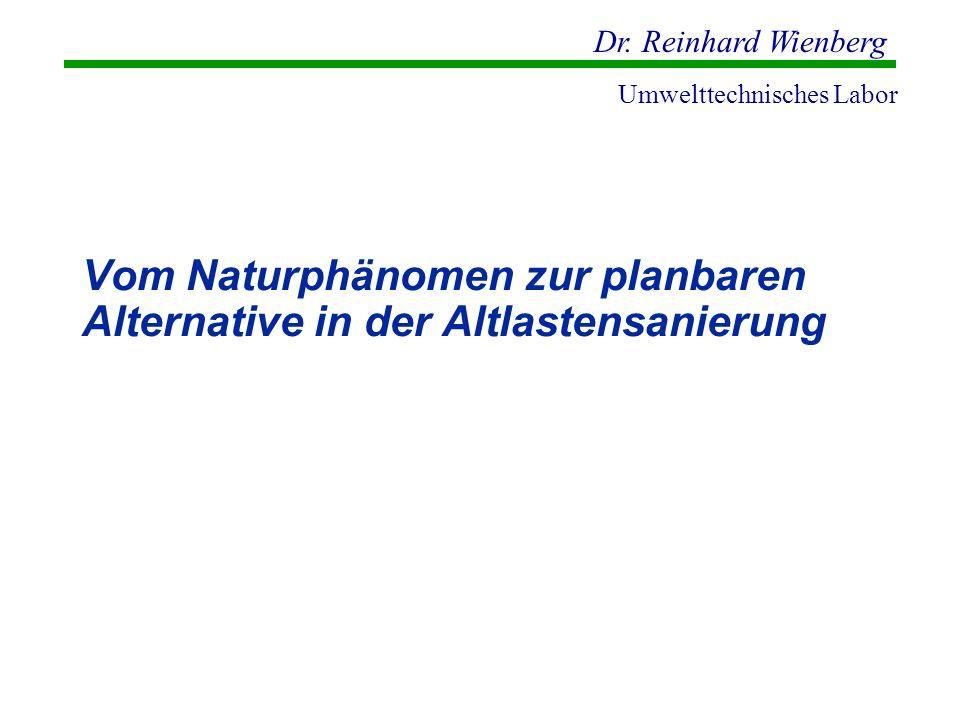 Dr. Reinhard Wienberg Umwelttechnisches Labor Vom Naturphänomen zur planbaren Alternative in der Altlastensanierung