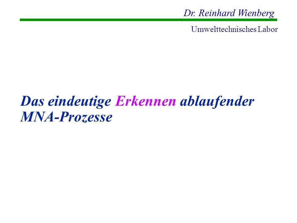 Dr. Reinhard Wienberg Umwelttechnisches Labor Das eindeutige Erkennen ablaufender MNA-Prozesse