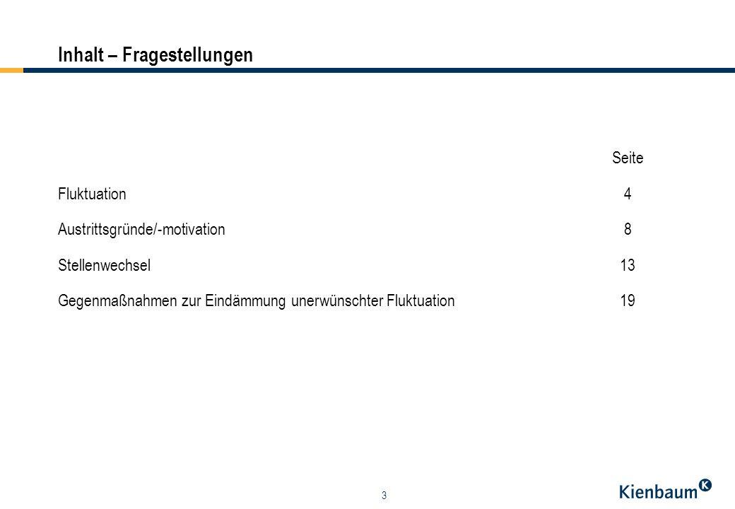 14 Stellenwechsel (I) Die Ergebnisse zeigen, dass bei den Mitarbeitern mit Händlerfunktion mehr Arbeitnehmer abgeworben wurden (ca.