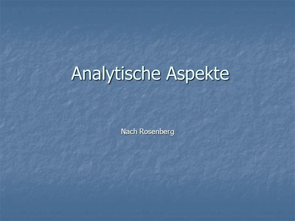 Analytische Aspekte Analytische Aspekte Nach Rosenberg