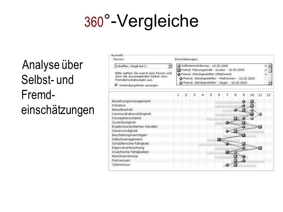 360 °-Vergleiche Analyse über Selbst- und Fremd- einschätzungen