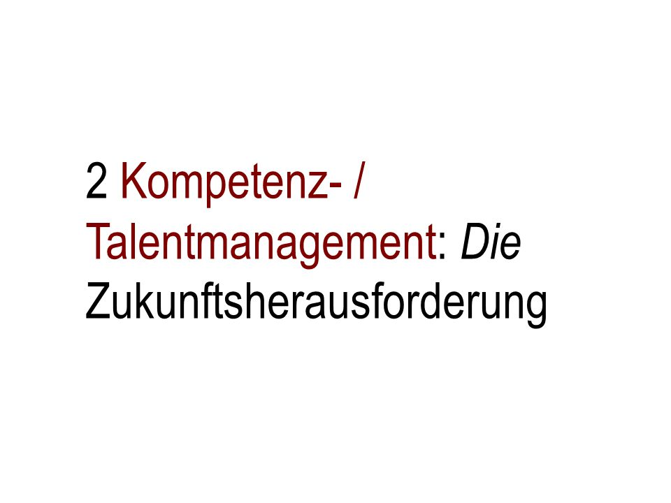 Managing talents