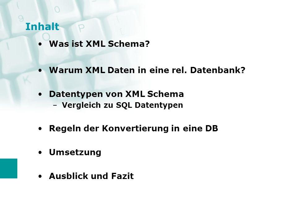 Was ist XML Schema.