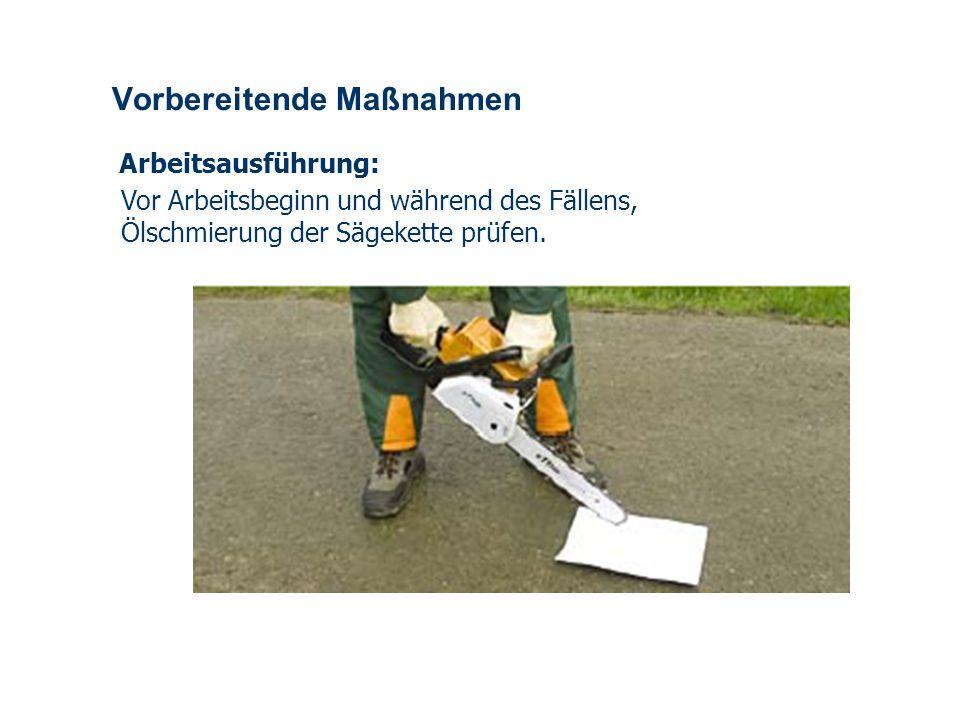 OBM Stefan Schiavulli www.ff-blofeld.de Ausbildung Feuerwehr Blofeld Folie 10 Vorbereitende Maßnahmen Arbeitsausführung: Beim fällen, Einschneiden und