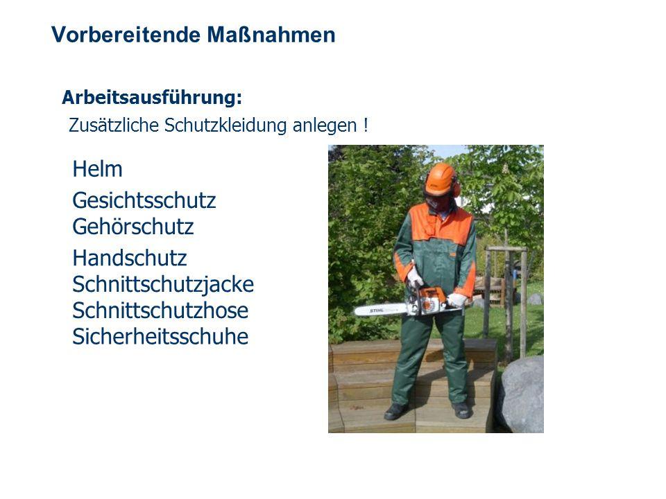 OBM Stefan Schiavulli www.ff-blofeld.de Ausbildung Feuerwehr Blofeld Folie 6 Vorbereitende Maßnahmen Arbeitsausführung: Zusätzliche Schutzkleidung anlegen .