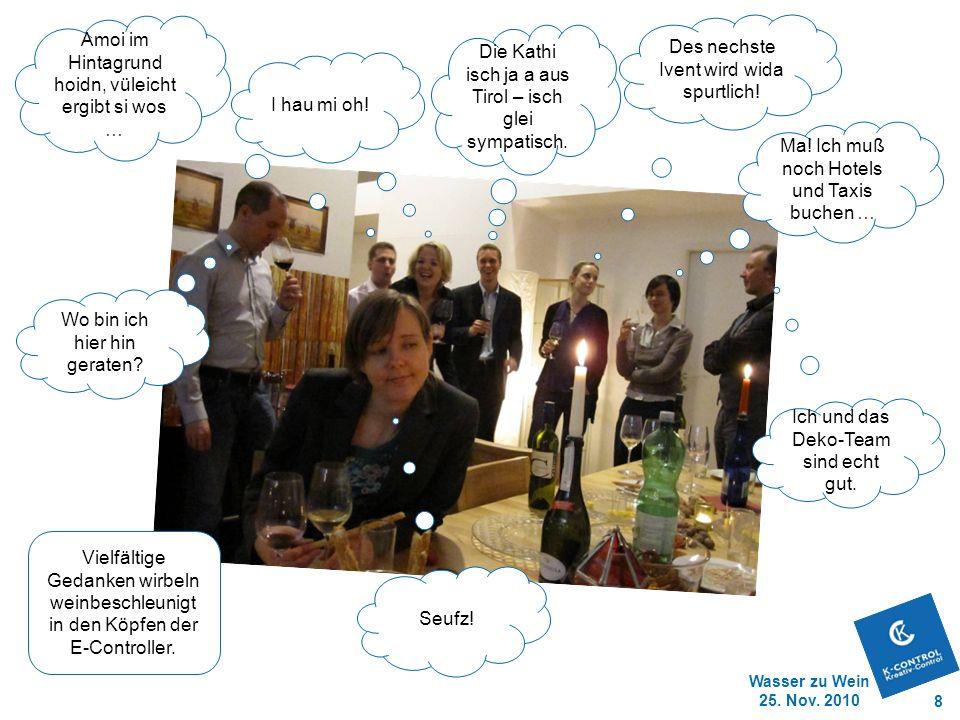 Wasser zu Wein 25.Nov. 2010 8 Ich und das Deko-Team sind echt gut.