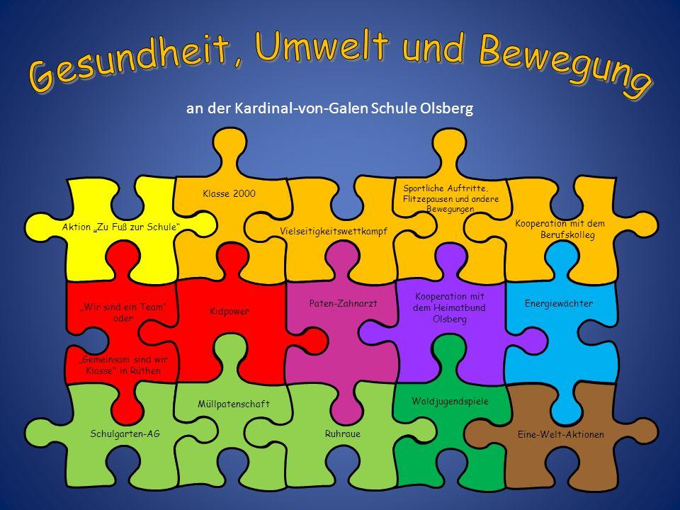 Aktion Zu Fuß zur Schule Unsere Grundschule nimmt jährlich an der vom Verkehrsclub Deutschland e.V.