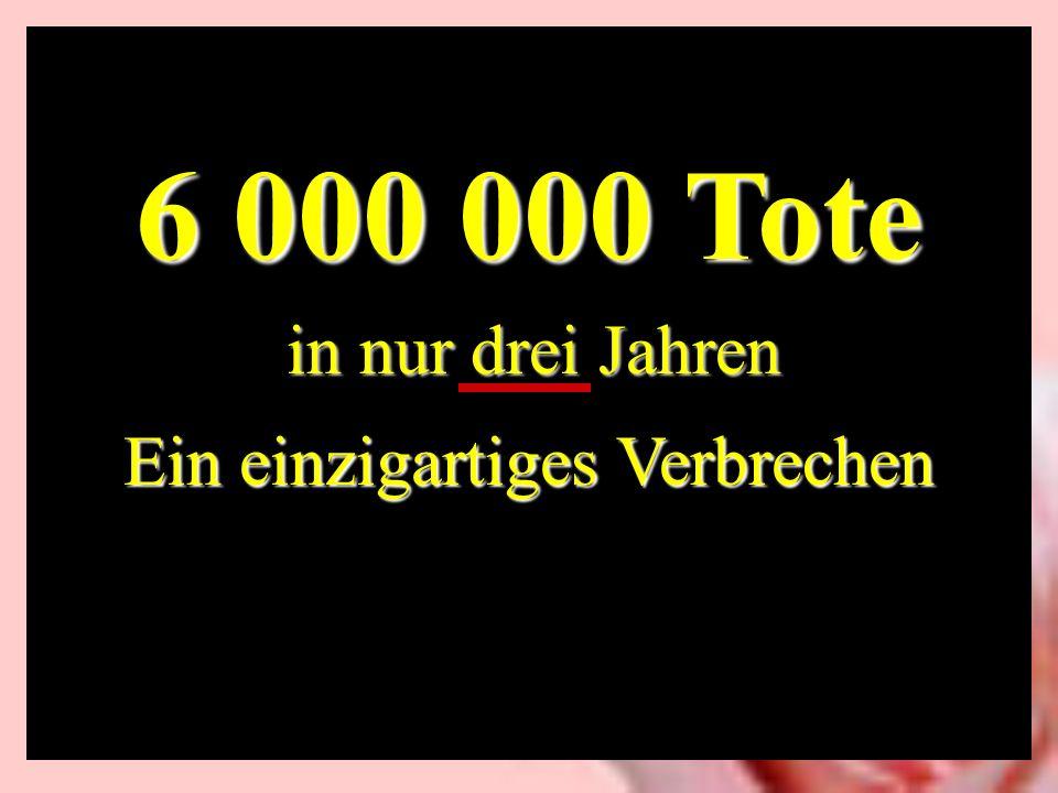 6 000 000 Tote Ein einzigartiges Verbrechen in nur drei Jahren