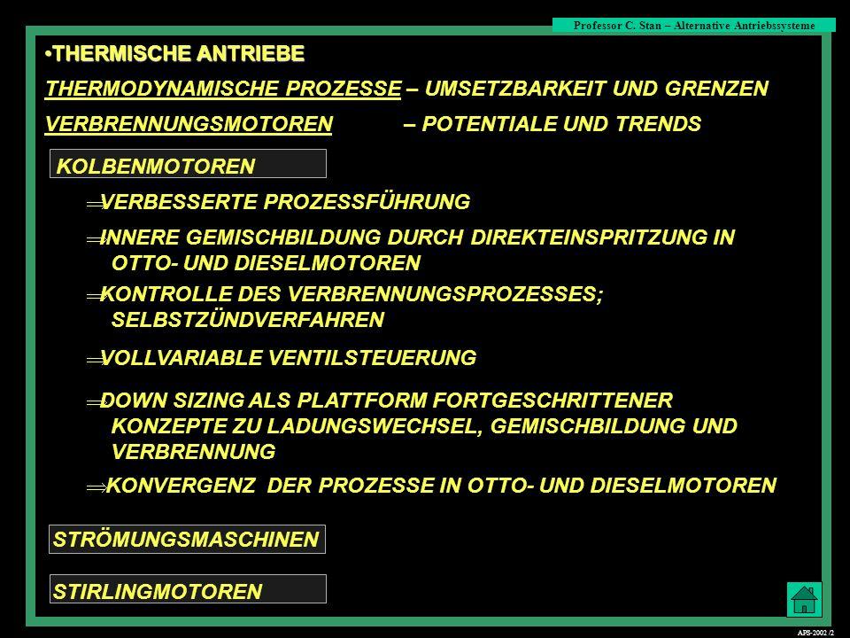 Viertakt-Kolbenmotoren Professor C. Stan – Alternative Antriebssysteme APS-2002 /13