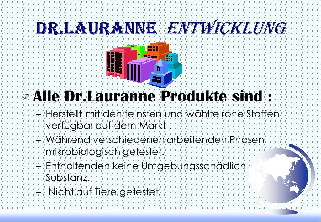 Dr.Lauranne Dr.Lauranne Strategie F Eine fortdauernde Forschung und eine Entwicklung professioneller kosmetischer Produkte fähig, die Notwendigkeit vo