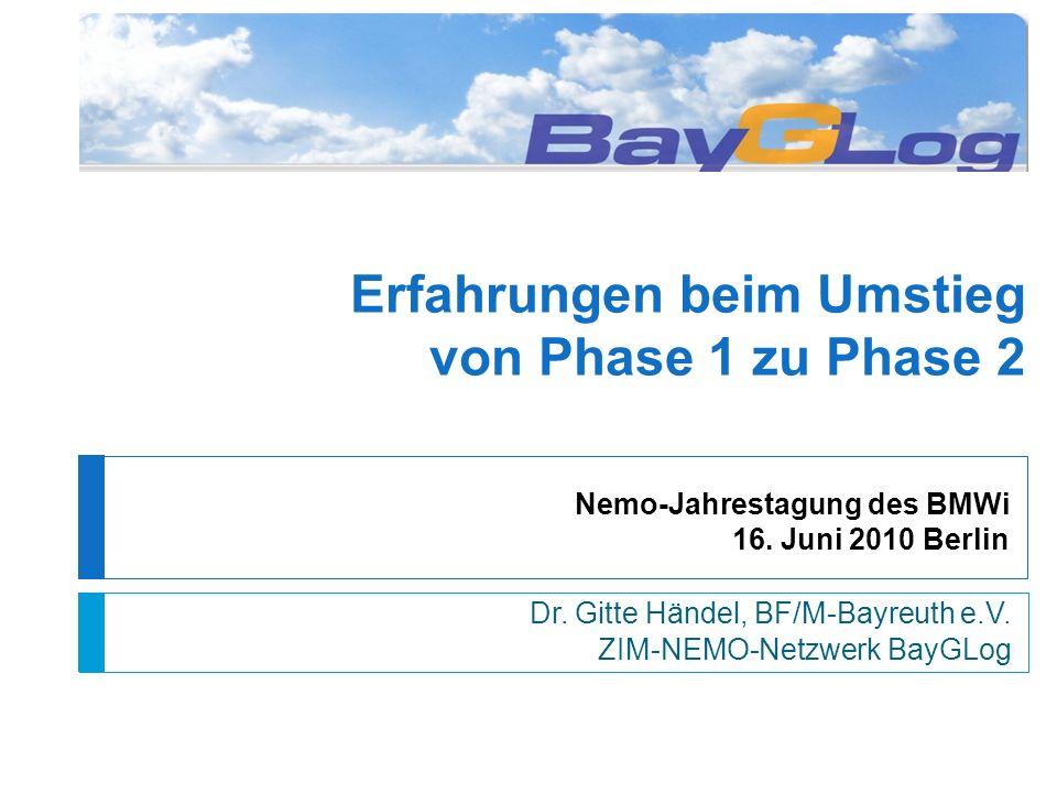 Nemo-Jahrestagung des BMWi 16. Juni 2010 Berlin Dr.